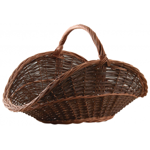 Photo PBU1320 : Willow log basket with handle