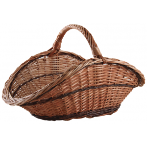 Photo PBU2370 : Panier à bûches en éclisse buff
