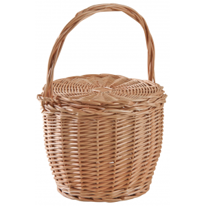 Photo PCO1310 : Willow basket with lid