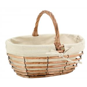 Photo PMA5160J : Oval ppenwork willow and jute basket