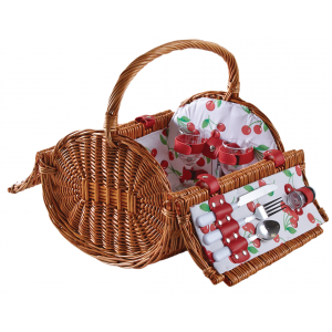 Photo PPI1250C : Natural willow picnic basket 2 persons