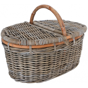 Photo PPI1270 : Oval rattan picnic baskets