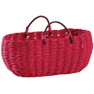 Photo SCF1140 : Oval fuchsia seagrass basket