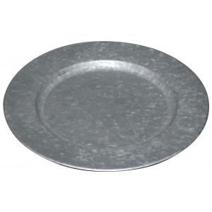 Photo TAS1210 : Dessous d'assiette en métal galvanisé