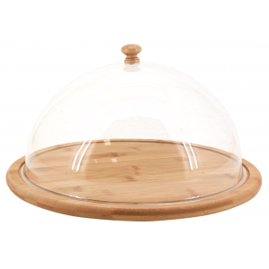 Photo TCL1380 : Round bamboo tray with cover