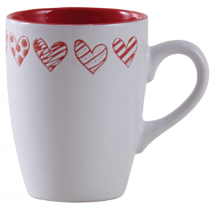 Photo TDI2420V : Tasse coeur rouge