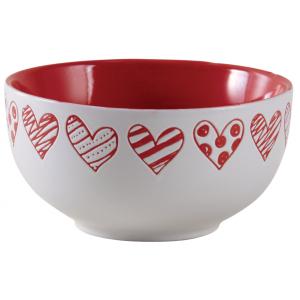 Photo TDI2430V : Stoneware bowl Heart