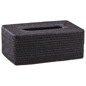 Photo TDI2540 : Rattan rectangular tissue box