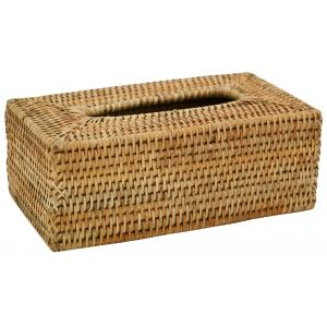 Photo TDI2590 : Natural rattan tissue holder box