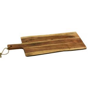 Photo TPD1340 : Planche à découper en acacia et jute