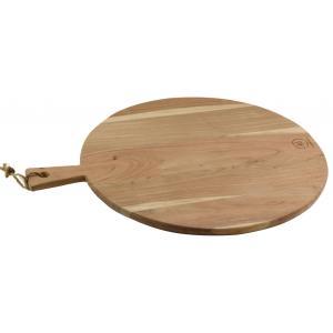 Photo TPD1360 : Planche à découper ronde en acacia naturel et jute