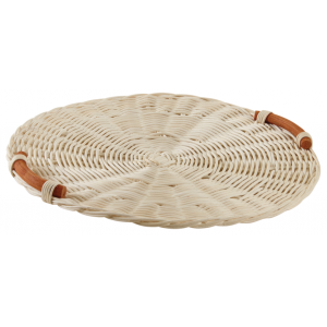 Photo TPF1670 : Rattan round cheese tray.