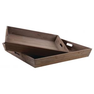 Photo TPL316S : Plateaux carrés en bois