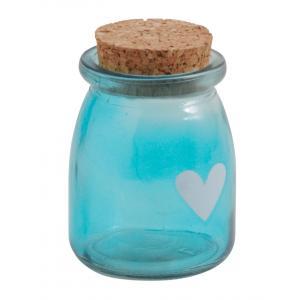 Photo TPO1360V : Pot en verre teinté bleu