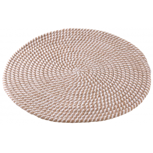 Photo TST186S : Natural round jute placemats