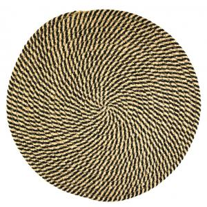 Photo TST197S : Round natural and stained jute placemats