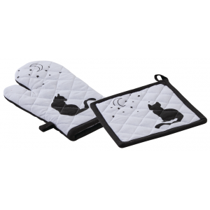 Photo TTX178S : Cotton oven glove and pot holder Cat