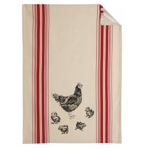Photo TTX1850 : 100% cotton kitchen towel Chicken