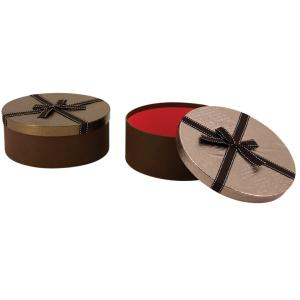 Photo VBT3091 : Round cardboard box bright finish