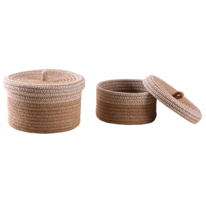 Photo VBT311S : Natural and white jute boxes