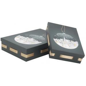 Photo VBT333S : Cardboard rectangular boxes Christmas town