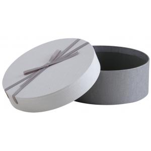 Photo VBT3340 : Grey cardboard round box with knot