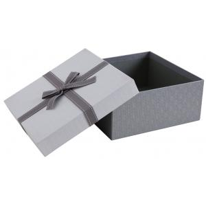 Photo VBT3360 : Grey cardboard squared box with knot