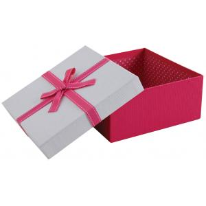 Photo VBT3370 : Pink cardboard squared box with knot