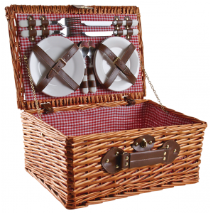 Photo VPI1370C : Picnic basket in honey stained willow