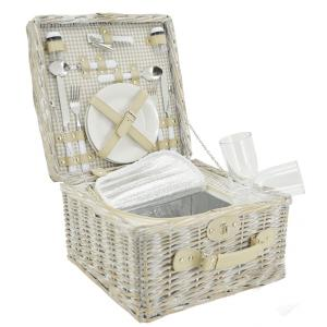 Photo VPI1390C : Stained willow picnic basket 2 persons