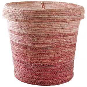 Photo VRA1380 : Panier à linge en maïs rose