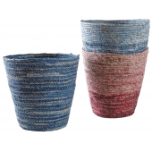 Photo CBU1330 : Stained maize waste paper baskets