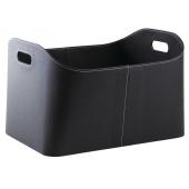 Photo CRA5600 : Black imitation leather log basket