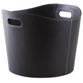 Photo CUT1560 : Black imitation leather basket
