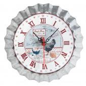 Photo DHL1450 : Metal clock Oeufs Frais