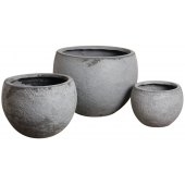 Photo JCP384S : Cache-pot rond en fibre de ciment