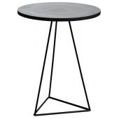 Photo MTB1470 : Table ronde en métal zinc antique