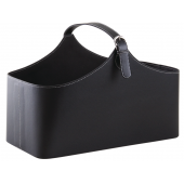Photo PFA1400 : Black imitation leather basket