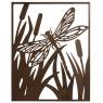 Cadre libellule en métal