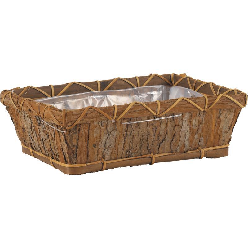 corbeille en corce de bois cco2700p aubry gaspard. Black Bedroom Furniture Sets. Home Design Ideas