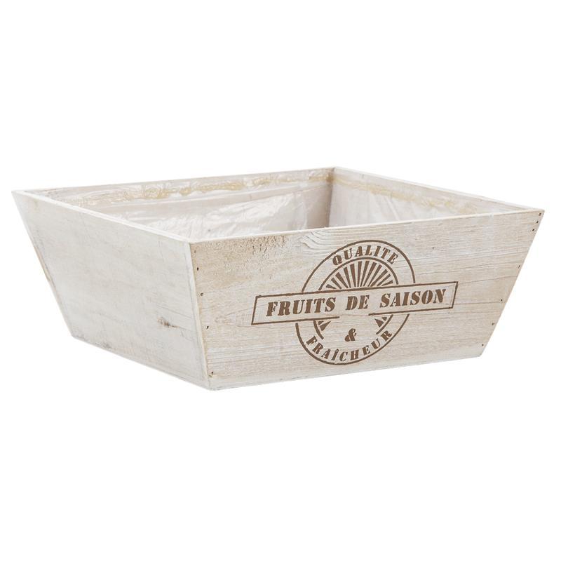 corbeille carr e en bois fruits de saison cco8180p aubry gaspard. Black Bedroom Furniture Sets. Home Design Ideas