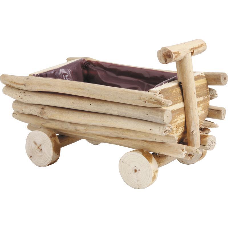 Corbeille charrette en bois flott cfa2350p aubry gaspard for Corbeille en bois flotte