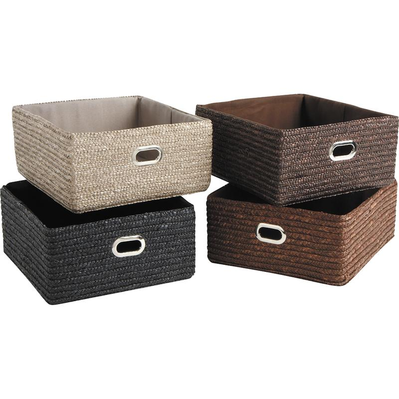 corbeille de rangement en paille cra3471c aubry gaspard. Black Bedroom Furniture Sets. Home Design Ideas