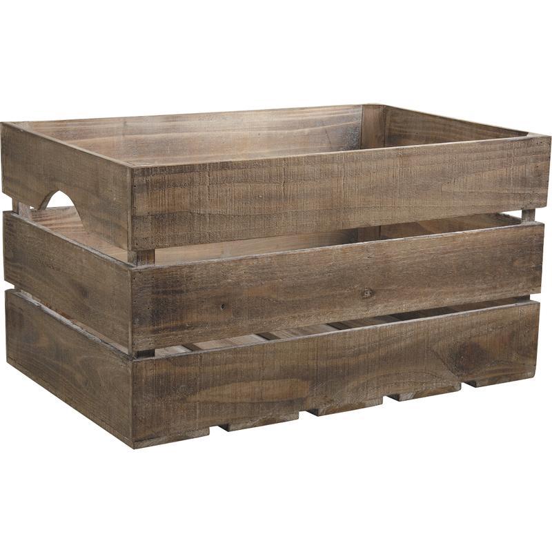 Caisse en bois vieilli cra3600 aubry gaspard for Boite en bois a decorer pas cher