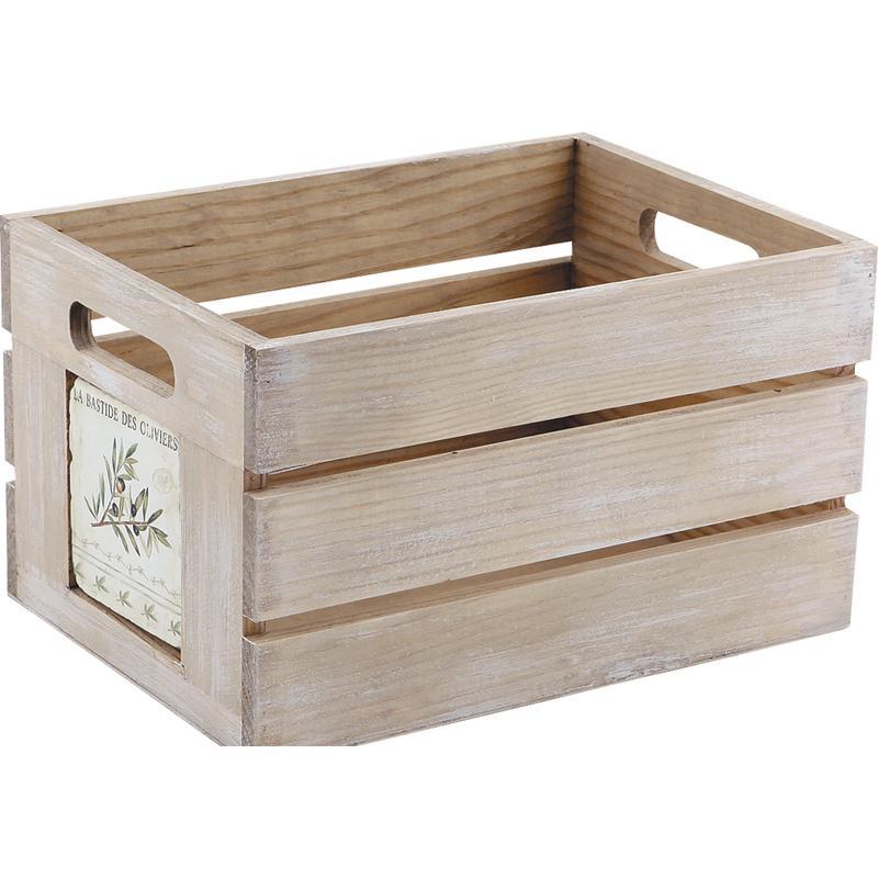 caisse de rangement provence en bois cra3792 aubry gaspard. Black Bedroom Furniture Sets. Home Design Ideas