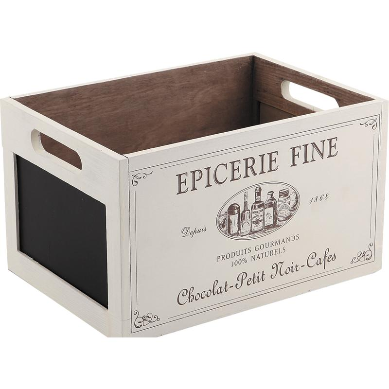 Caisse de rangement en bois cra3820 aubry gaspard for Boite a chapeau maison du monde