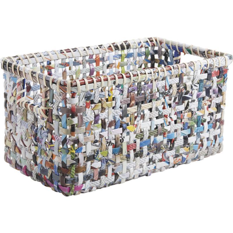 corbeilles de rangement en papier recycl cra433s aubry gaspard. Black Bedroom Furniture Sets. Home Design Ideas