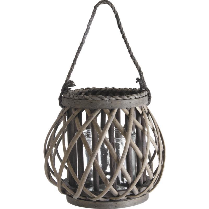 lanterne en osier bois et verre dbo1790v aubry gaspard. Black Bedroom Furniture Sets. Home Design Ideas