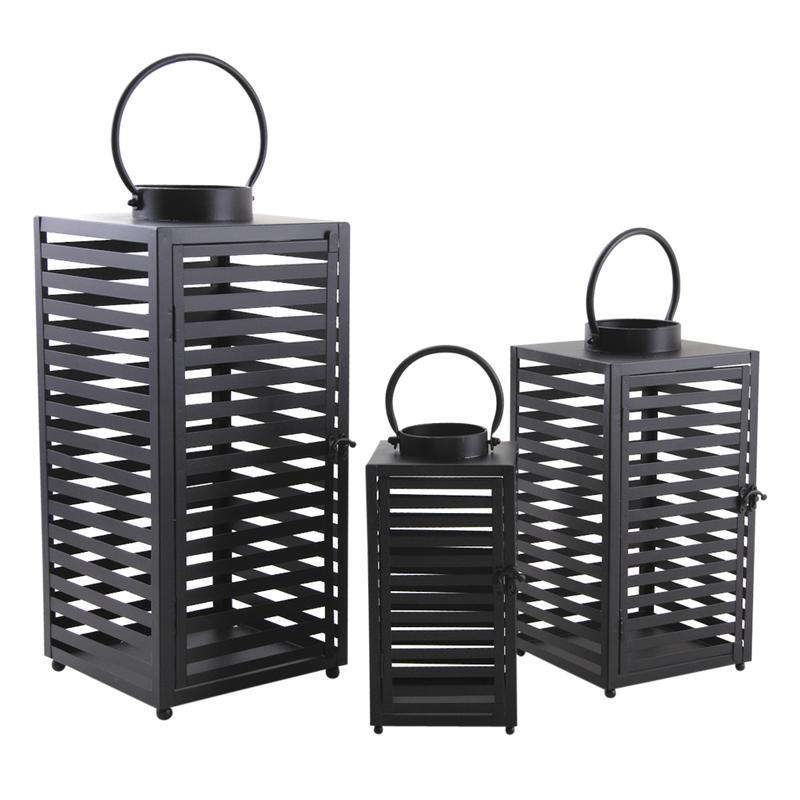lanternes en m tal laqu noir dbo235s aubry gaspard. Black Bedroom Furniture Sets. Home Design Ideas
