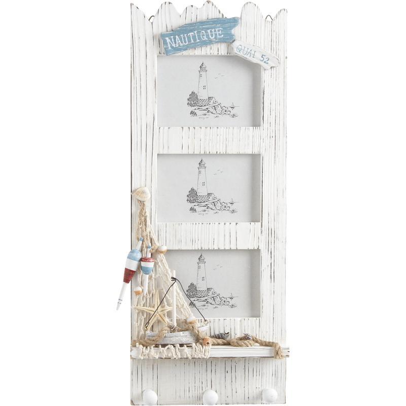 Porte photos en bois d cor marin dca1480v aubry gaspard for Decoration porte en bois